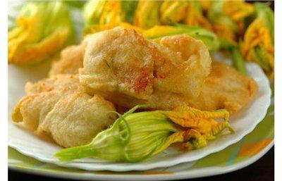 Fior di zucchina in tempura